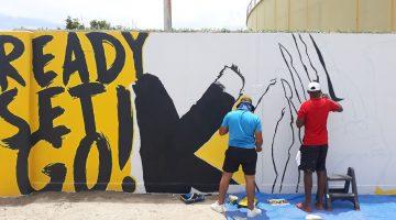 Zakito mural taking shape